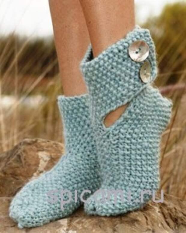 вязаные носки эльф