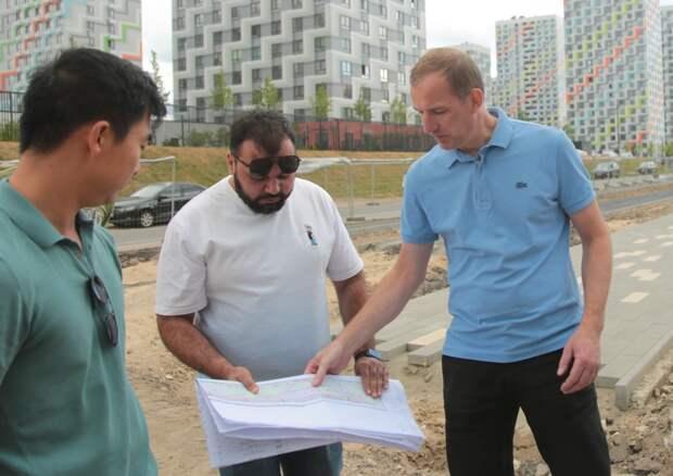 В районе Отрадное создают новый сквер