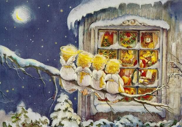 Зимой ангелы всегда стучатся перед тем, как войти в окно.