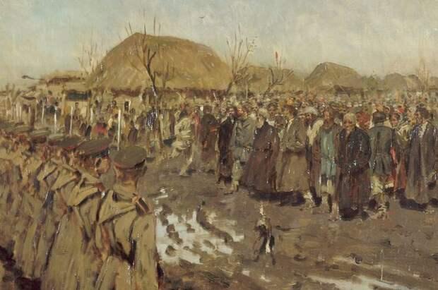 Сергей Иванов, «Восстание в деревне», 1889 год.