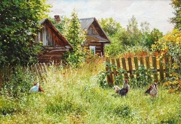 Деревенские пейзажи Татьяны Черных