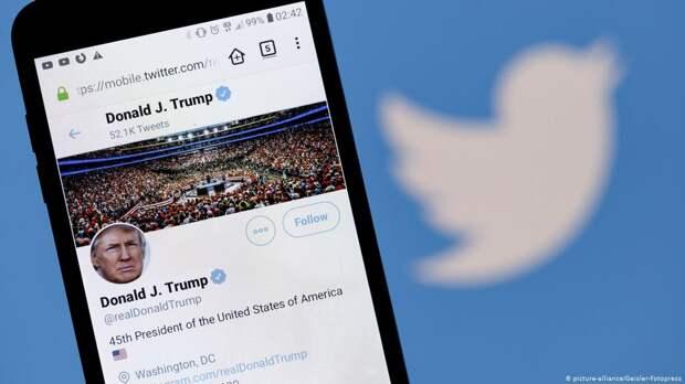 Twitter заблокировал учетную запись, созданную для публикации заявлений Трампа