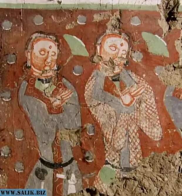 Тохары, фреска.