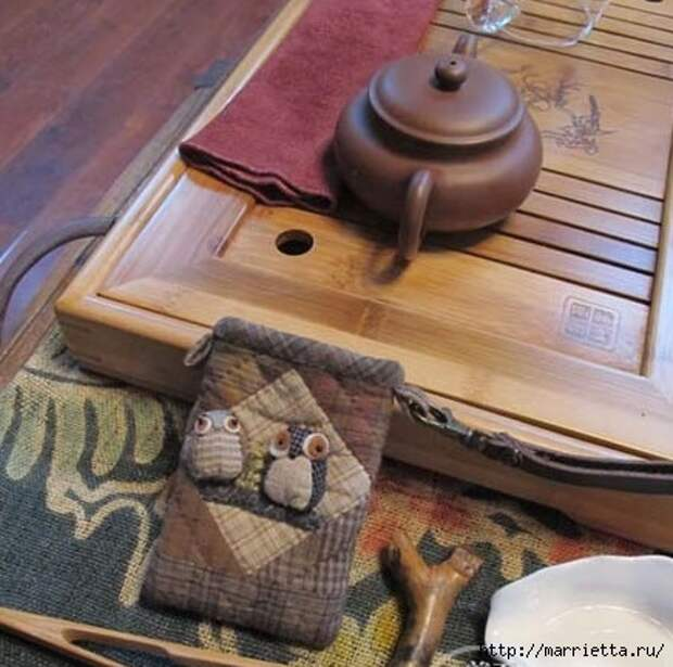 Лоскутное шитье. Футляры для очков - красивые идеи (2) (436x433, 134Kb)