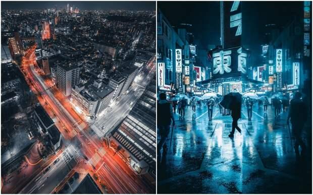 День и ночь японских улиц на снимках Джеймса Такуми Шегуна
