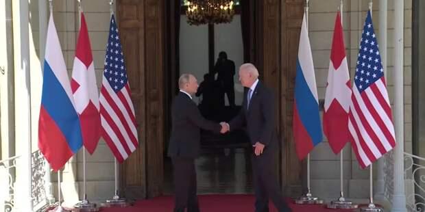 Начался саммит РФ-США. За что Путин поблагодарил Байдена?