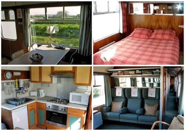 Интерьер номеров-вагонов гостевого дома для семейного отдыха «Станция отдыха».