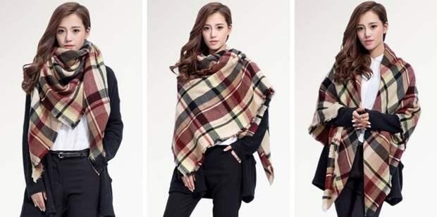 Как правильно носить большие шарфы