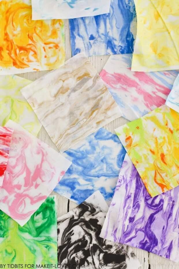 Уникальный способ мраморирования ткани. Лайфхак, обеспечивающий результат раз и навсегда