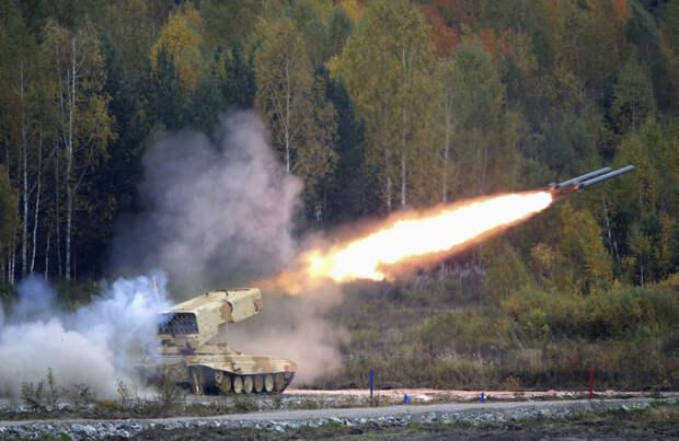 ТОС-1 «Буратино» — тяжёлая огнемётная система (ТОС) залпового огня на базе танка Т-72