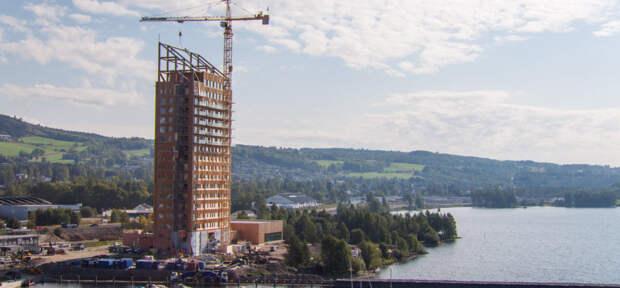 В Норвегии построили самый высокий в мире деревянный небоскреб