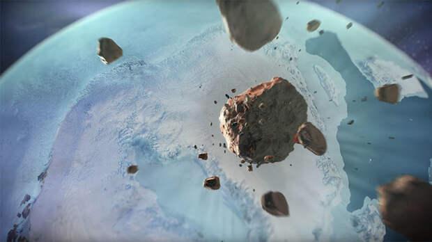 Подо льдами Гренландии нашли еще один кратер от огромного метеорита