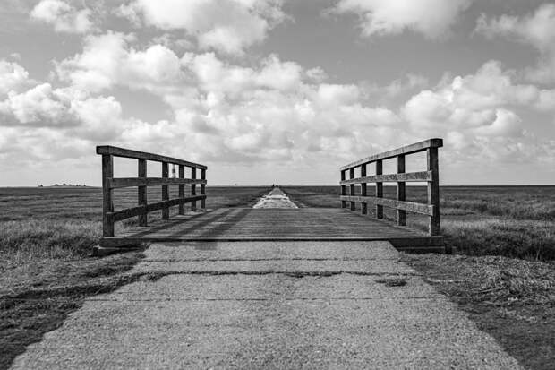 Way to Westheversand Lighthouse black and white by Sebastian  on 500px.com