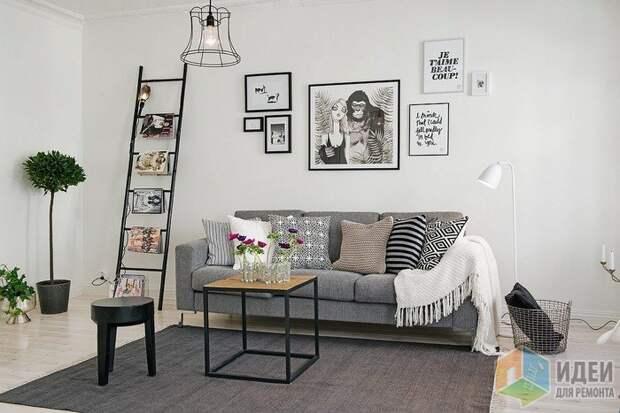 Декор скандинавской гостиной, фото: Alvhem.com