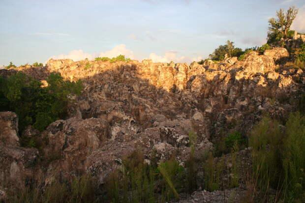 Горы, оставшиеся после добычи фосфоритов – типичный пейзаж Науру. Фото: Trentinness / Dreamstime