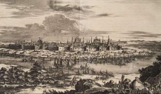 Вид Астраханского ханства в XV-XVI веках