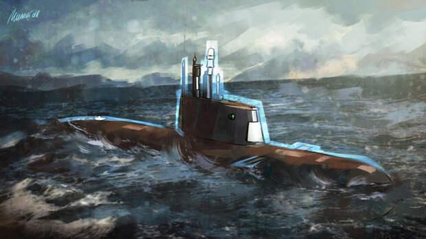 В Сети появилось первое фото новейшей подлодки ВМС Китая