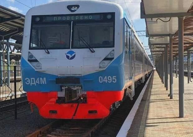 Для нового маршрута Севастополь-Евпатория уже прибыли две электрички