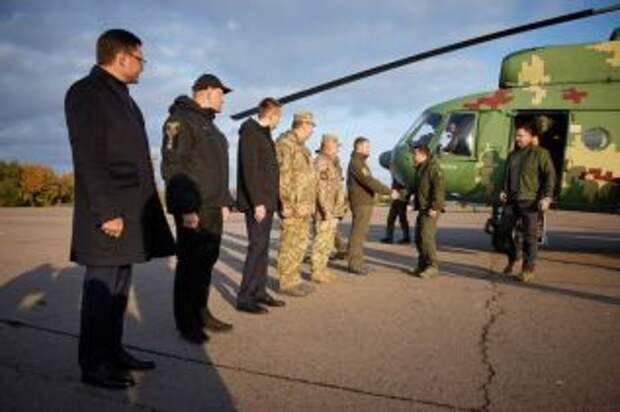 Зеленский с послами G7 отправился на Донбасс