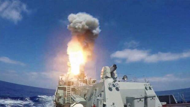 Корабли ВМФ РФ встретили в Чёрном море военный корабль Британии артиллерийской стрельбой