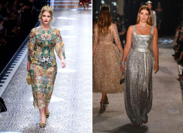 Китти Спенсер на показе Dolce & Gabbana FW 2017 год. \ Китти на показе на Dolce & Gabbana Secret & Diamond Show в 2018 году.