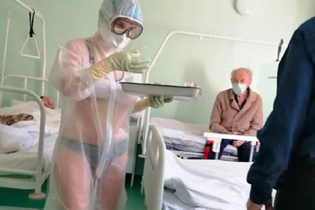 Тульская медсестра вбикини влюбила всебя иностранцев