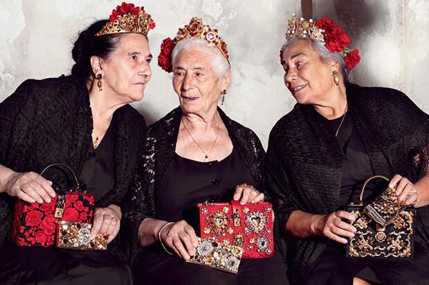 Психология успеха: «позднее зажигание» — люди второй половины жизни. Рекламная кампания Dolce & Gabbana, весна-лето 2015