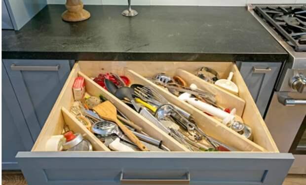 Хранение в кухонных ящиках