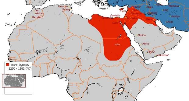 Территория мамлюкского султаната в период правления Мухаммада I ан-Насира