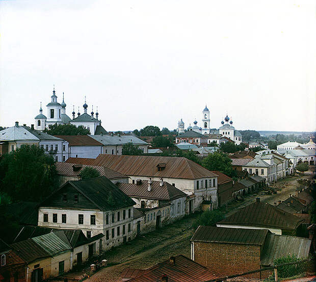 Вид с крепостного вала в начале XX века