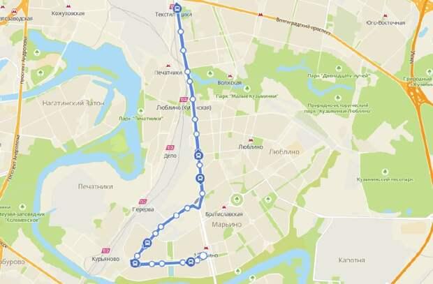 Автобусный маршрут №650 стал короче