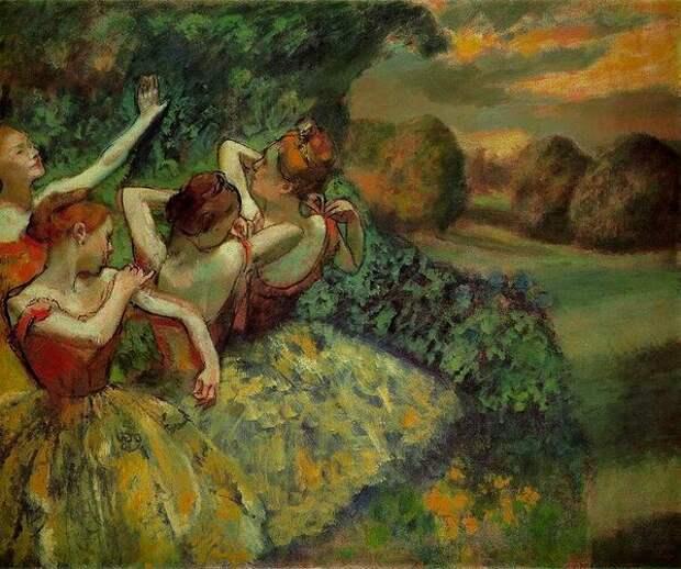 Э. Дега. Четыре танцовщицы.. 1899