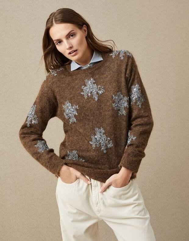 брунело кушинели свитер с кружевом