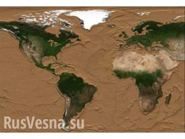 Как будет выглядеть Земля, если её океаны высохнут — интересные кадры
