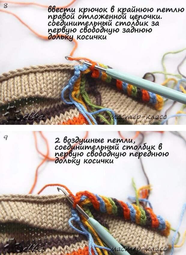 вязание горловина украшение