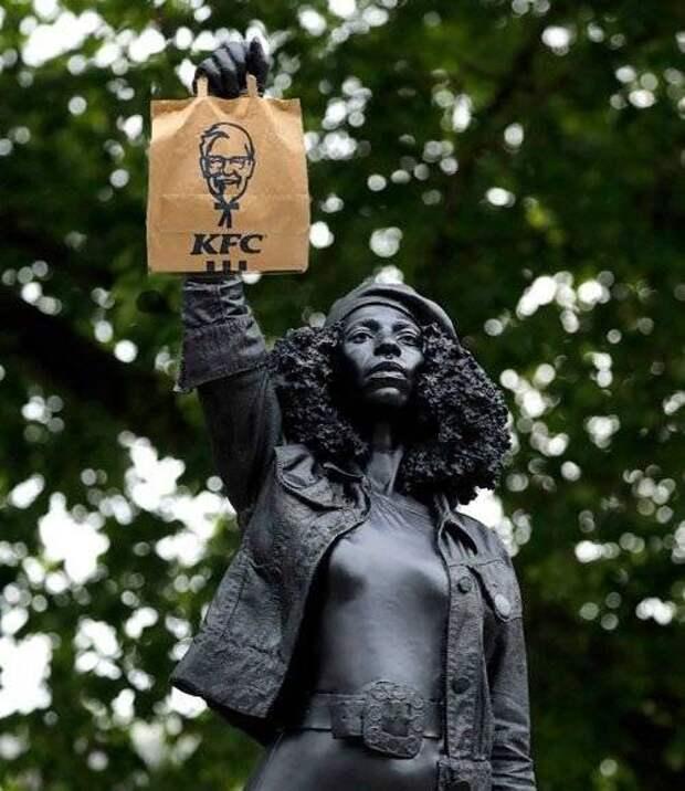 Мгновенная карма: новые статуи BLM, снесены белыми патриотами