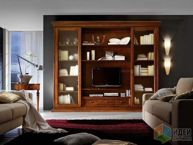 Гостиная в классическом стиле с декоративными бра, Gambella Design