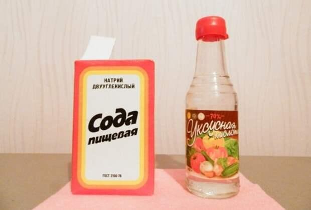 Сода и уксус - универсальные очищающие и отбеливающие продукты / Фото: sodavsem.ru