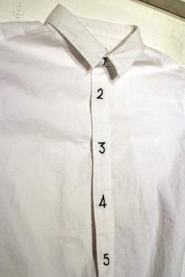 Рубашка с нумерацией