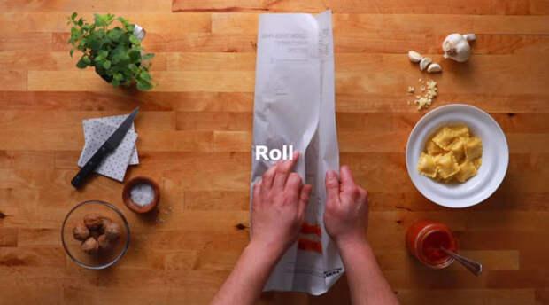 Заворачиваем лист ikea, блюда, готовка, еда, легко, продукты, рецепты, фото
