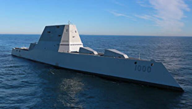 Новейший эскадренный миноносец США типа Замволт (Zumwalt)