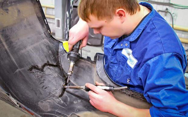 Как ремонтируют бамперы?