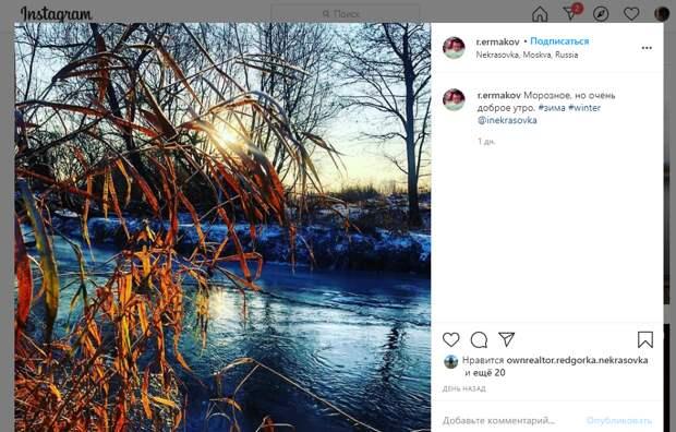 Фото дня: сказочное утро в Некрасовке