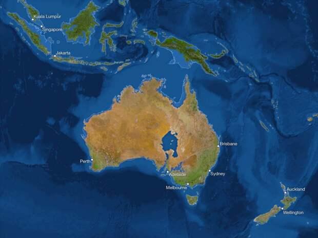 Вот как будет выглядеть наша планета, если растают все ледники