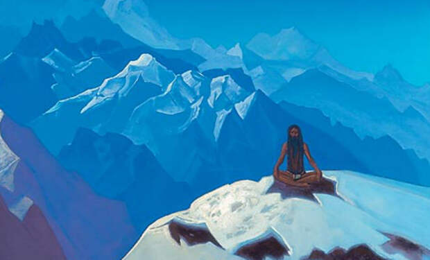 Индийский монах ходит в горы и медитирует в снегу при минус 45