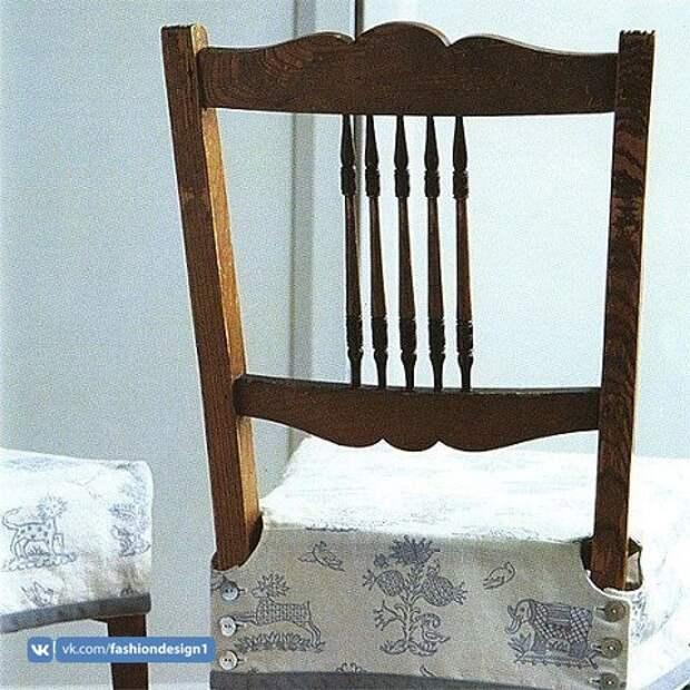 Чехол для сидения стула (выкройка)