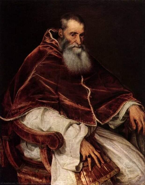 Папа Павел III обзавёлся пятью детьми от любовницы. \ Фото: google.com.