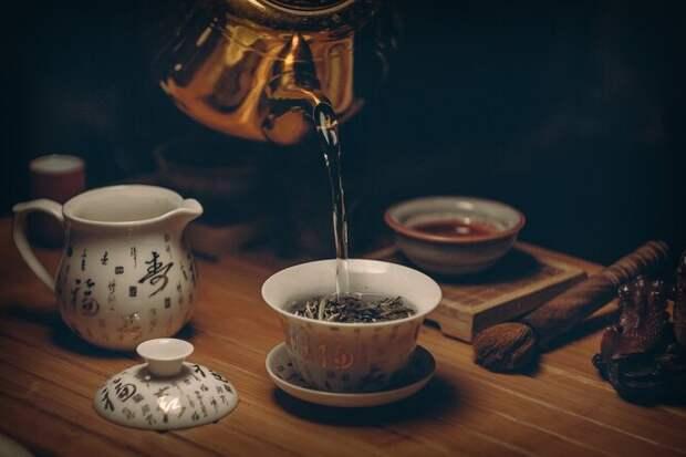 чай, чашки, чай в чашке, зеленый чай, чашки с чаем на столе