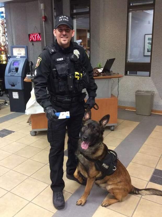 офицер с собакой