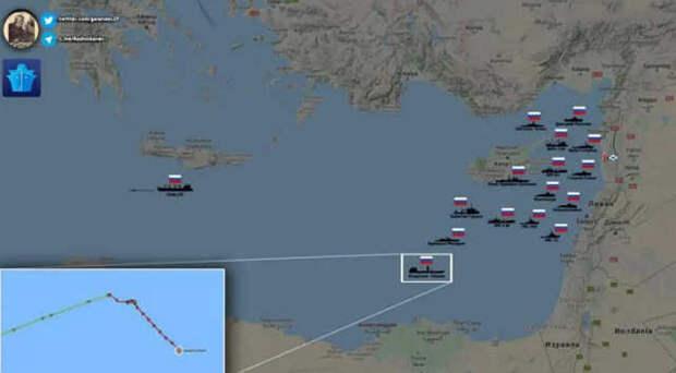 ВМФ России наращивает силы у берегов Сирии - 15 кораблей и подлодок